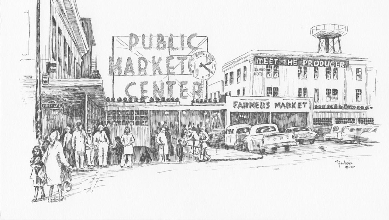 Pike Place Market Sketch