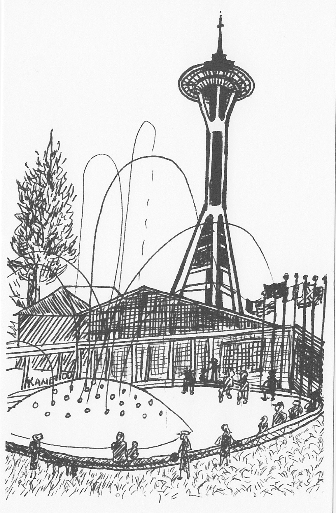 coloring pages space needle - photo#8